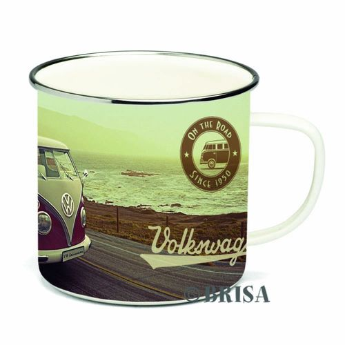Kaffeebecher Emaille 500ml VW Bulli Retro