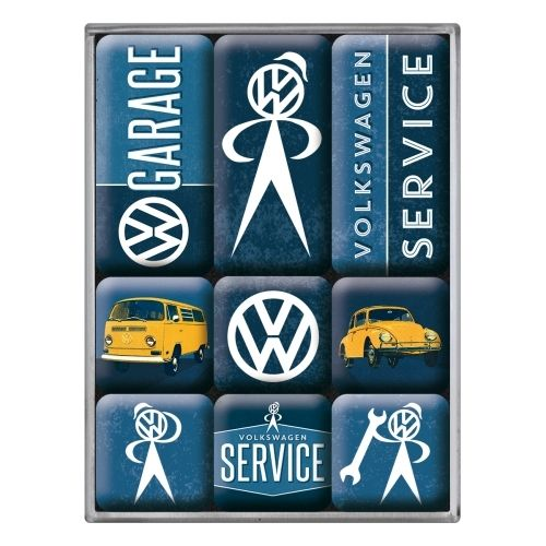 Magnet-Set VW Garage (9-teilig)
