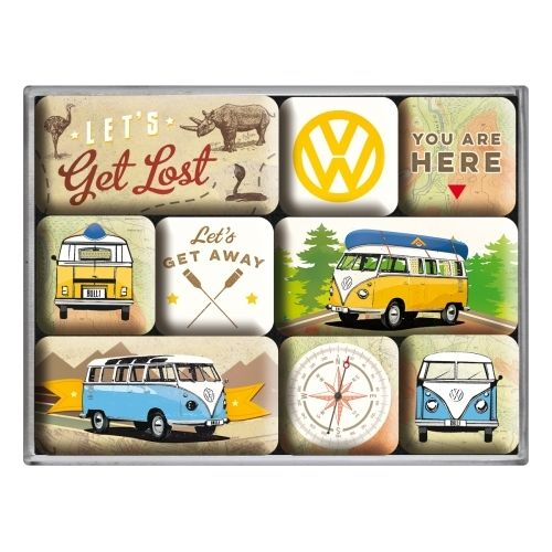 Magnet-Set VW Bulli - Let's get lost (9-teilig)