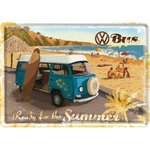 Blechpostkarte VW Bulli - Ready for the Summer