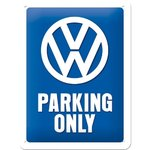 Blechschild VW Parking only 15x20cm