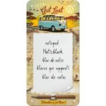 Blechschild Notizblock VW Bulli - Let's get lost