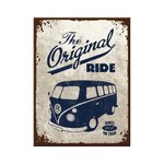 Blechschild VW Bulli - The Original Ride 20x30 cm