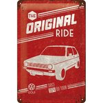 Blechschild VW Golf - The original Ride 20x30 cm