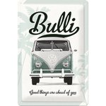 Blechschild VW Bulli - Good things are ahead 20x30 cm
