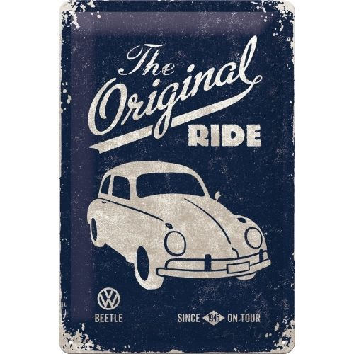 Blechschild VW Käfer - The original Ride 20x30cm