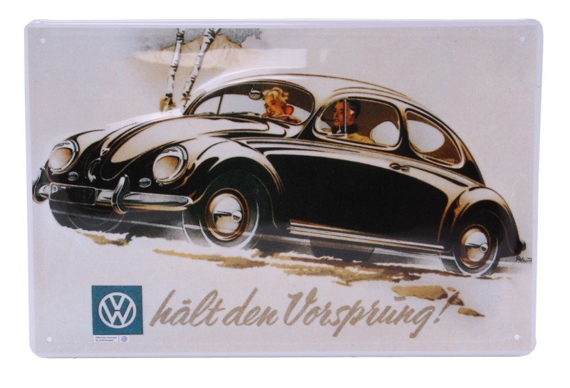 blechschild vw k fer h lt den vorsprung gr e 20x30 cm. Black Bedroom Furniture Sets. Home Design Ideas